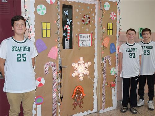 Middle School Students Deck the Halls