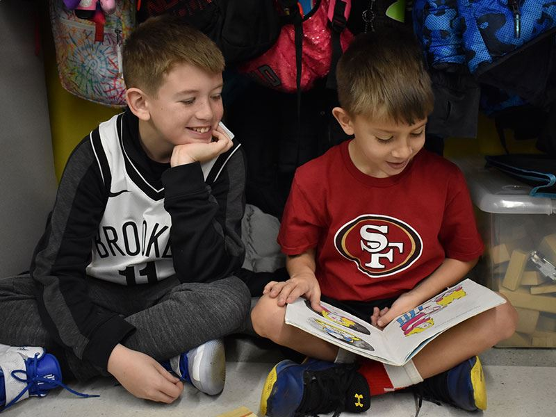 Books Build Bonds at Manor