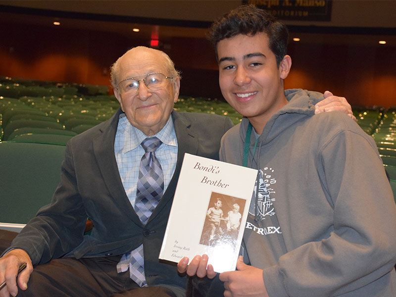 Holocaust Survivor Tells High School Students to Reject Hatred