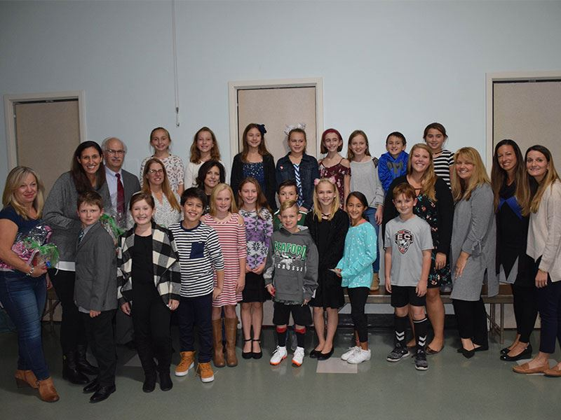 Students Recognize Seaford Board for Service