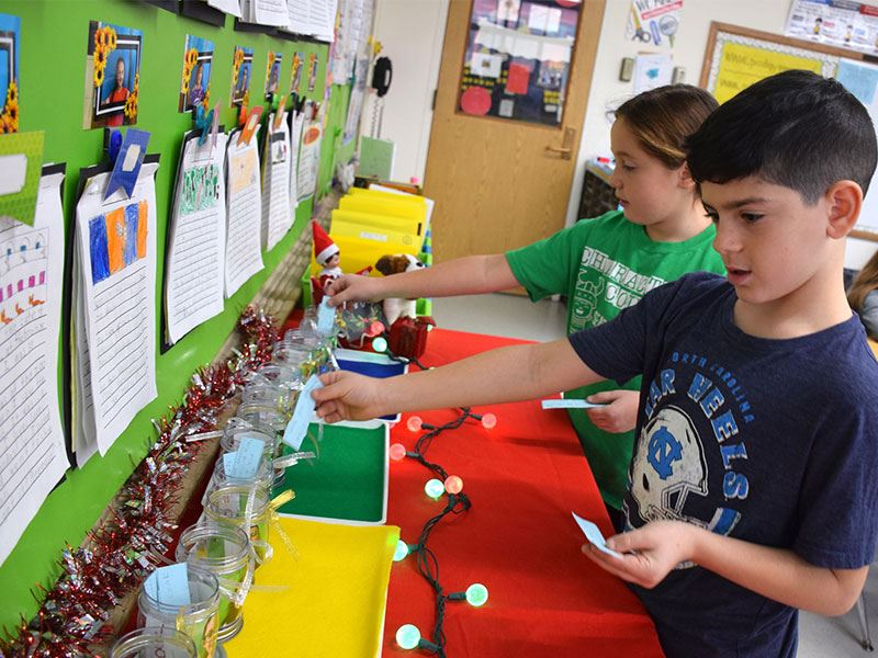 Manor Students, Staff Spread Joy Within