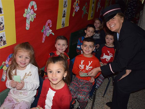 Manor Kindergartners Board the Polar Express