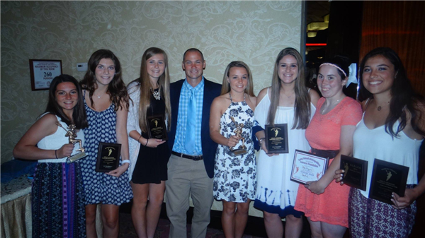 The girls at the Nassau County Girls lacrosse Dinner